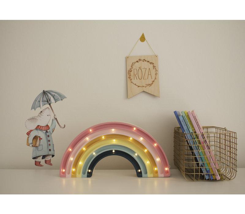 Kleine Lichter Lampe Regenbogen Retro