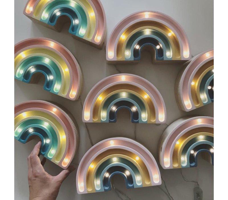 Kleine Lichter Lampe Regenbogen Pastell Mini