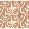 Swedish Linens hoeslaken SEASHELLS Terracotta pink - diverse maten