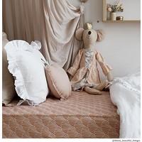 Schwedische Bettwäsche Spannbetttuch SEASHELLS Terracotta pink - verschiedene Größen