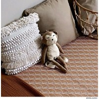 Swedish Linens hoeslaken SEASHELLS Cinnamon brown - diverse maten
