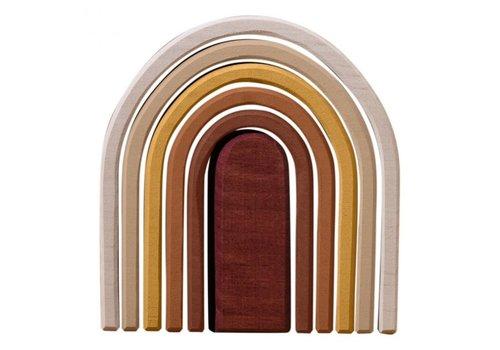 Raduga Grez Regenbogenstapler oval sand klein