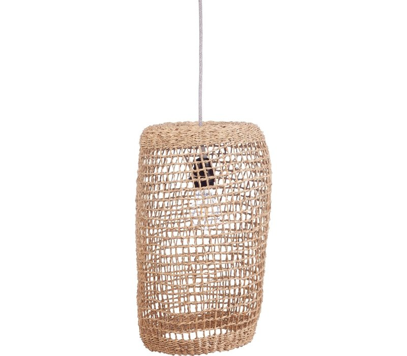 KidsDepot pumpkin hanging lamp natural rattan Ø45cm - Copy