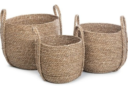 KidsDepot Kurv storage basket seagrass set of 3