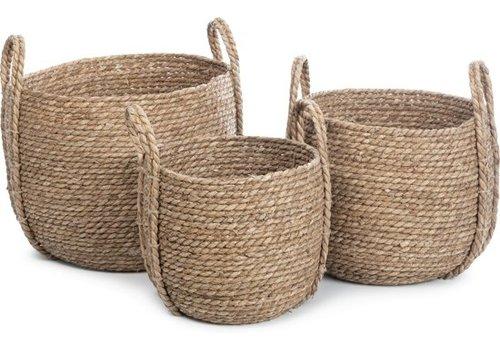KidsDepot Kurv storage basket seagrass set of 3
