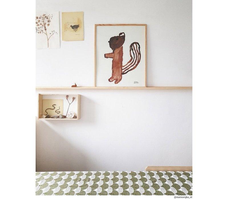 Schwedische Bettwäsche Spannbetttuch Olivgrün - verschiedene Größen