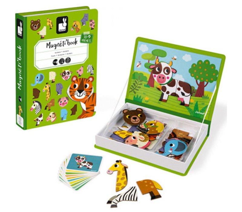 Janod magnet book animals