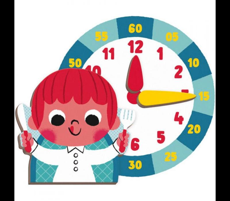 Janod magneetboek klok kijken