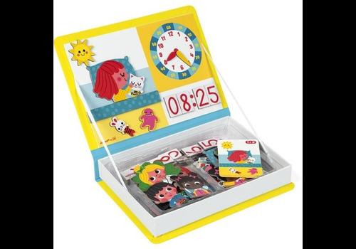 Janod magnet book watch clock