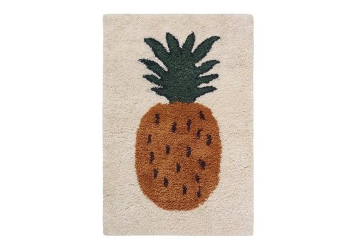 Ferm Living Fruiticana Pineapple rug small
