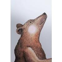 Heart thief wall sticker big bear