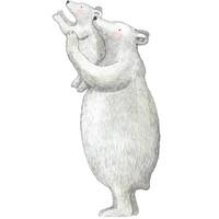 Hartendief muursticker ijsberen