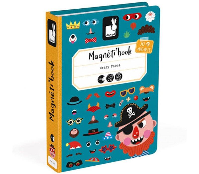Janod Magnet Buch verrückte Gesichter Jungs