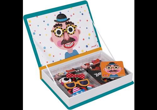 Janod magneetboek gekke gezichten jongens