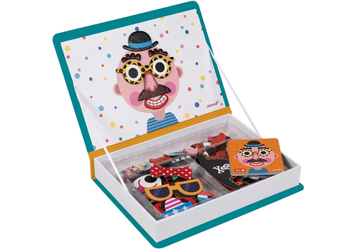 Janod magnet book crazy faces boys