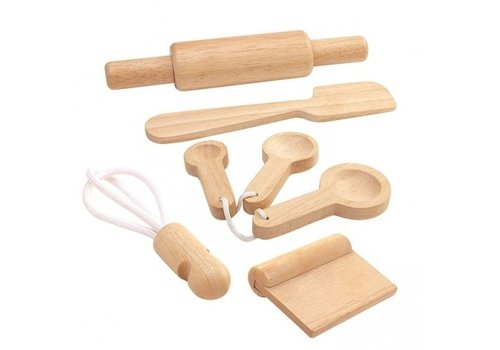 Plan Toys wooden kitchen accessories