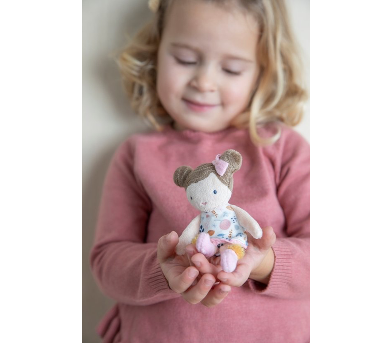 Kleine holländische Kuschelpuppe Rosa - 10 cm