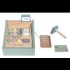 Kleine holländische hölzerne Registrierkasse mit Scanner - Minze