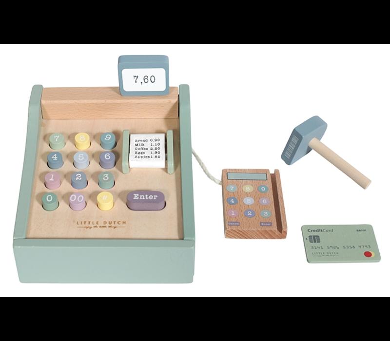 Little Dutch Houten kassa met scanner - mint