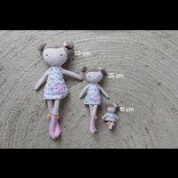 Kleine holländische Kuschelpuppe Rosa - 50 cm