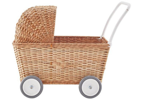 Olli Ella poppenwagen Strolley Natural