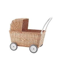 Olli Ella poppenwagen Strolley Natural