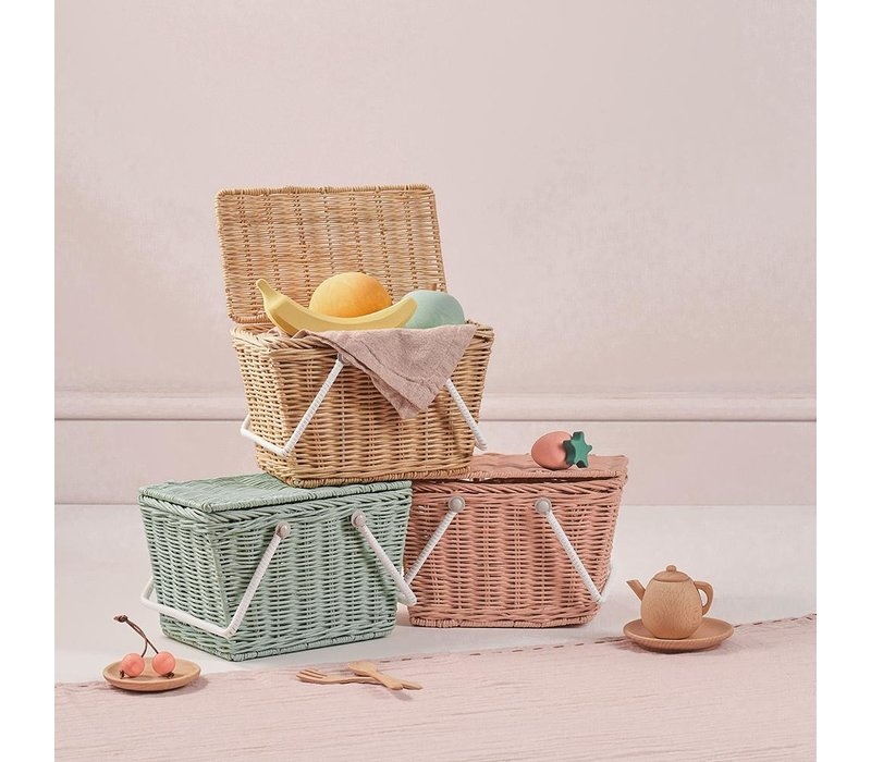 Olli Ella picknickmand Piki Basket Rose