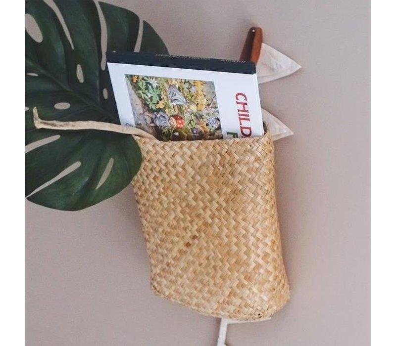 Olli Ella Hanging Book Basket - Natural