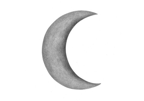 Stickstay wall sticker Half moon dark gray
