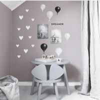 Stickstay wall sticker Heart light gray small