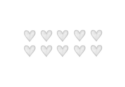 Stickstay muursticker Heart light grey small