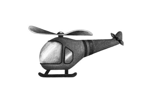 Stickstay wall sticker Helicopter graphite gray