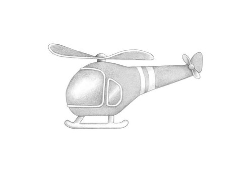 Stickstay wall sticker Helicopter light gray