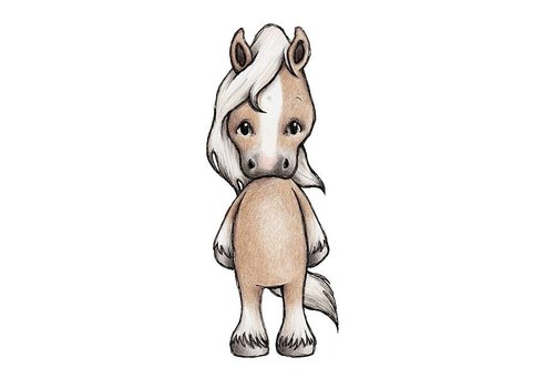 Stickstay wall sticker Cherie the Horse