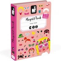 Janod magneetboek gekke gezichten meisjes