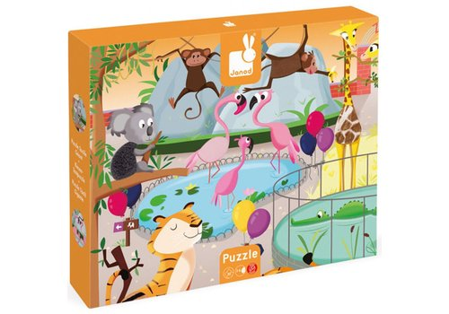 Janod Feeler Puzzle - ein Tag im Zoo 20