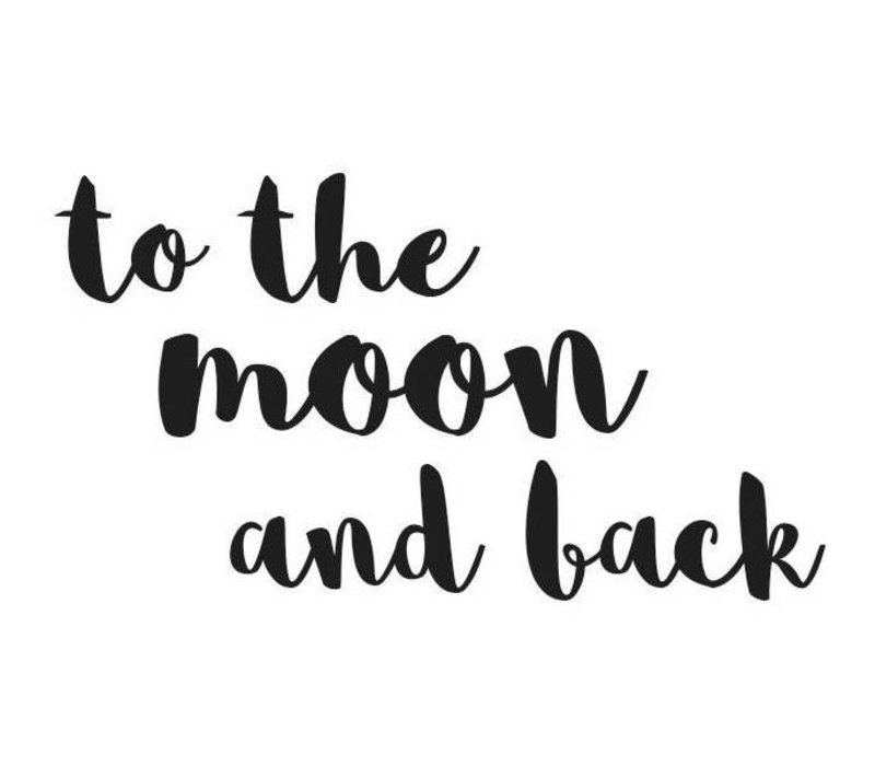 Stickstay wall sticker text To the moon