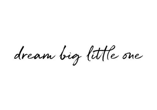 Stickstay Wandaufkleber Text Dream big little one