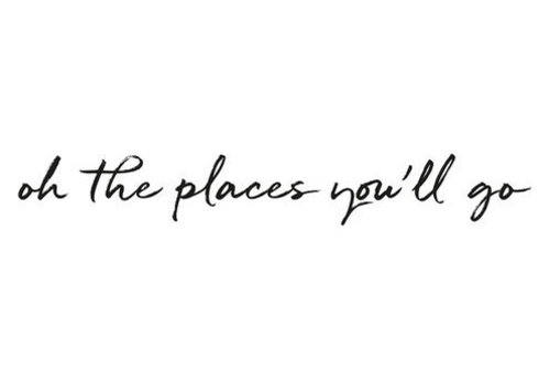 Stickstay muursticker tekst Oh the places you'll go