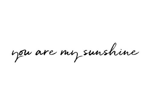 Stickstay muursticker tekst You are my sunshine