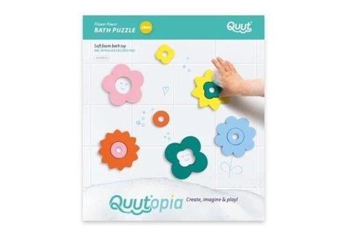 Quut Quutopia Flower Power bath puzzle
