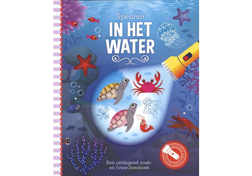 Book Tracking in the water (flashlight book)