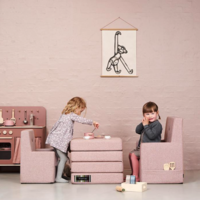 by KlipKlap Kids Chair XL roze