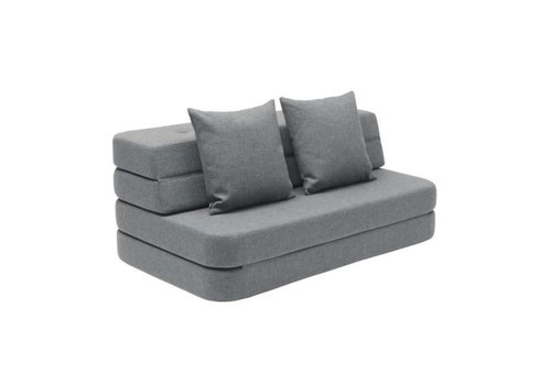 by KlipKlap 3 fold sofa blue gray
