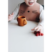 Liewood Gene silicone cup Cat dark rose - 2 pack