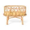 Poppie Rotan doll's cradle with yellow mattress
