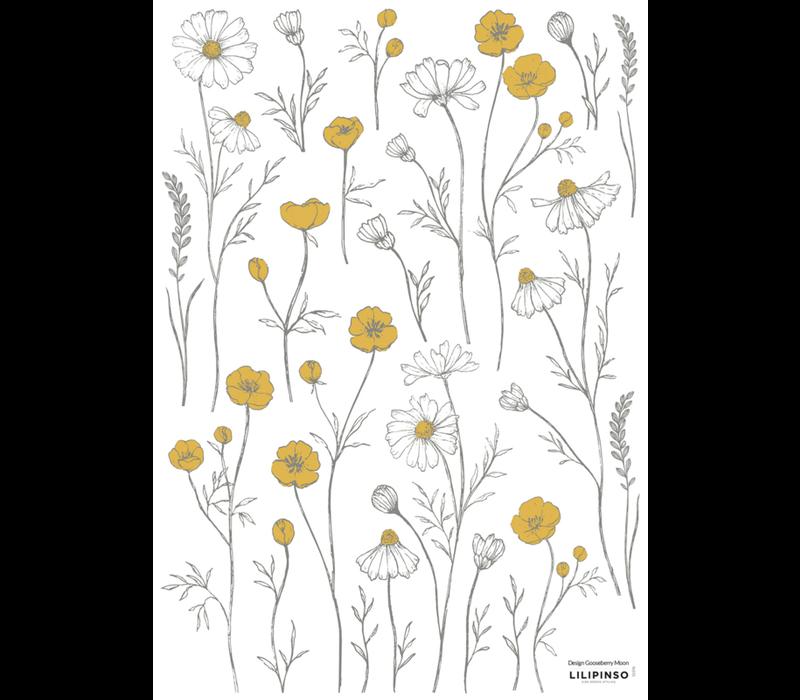 Lilipinso Wandtattoo Butterblumen und Kamillenblüten