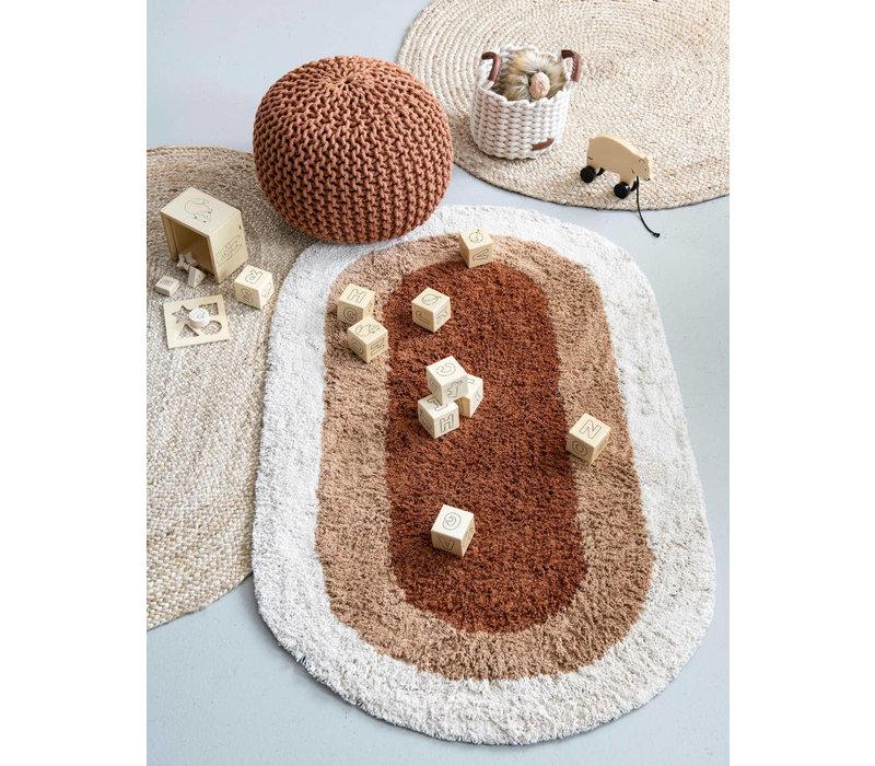 KidsDepot rug burlap around natural