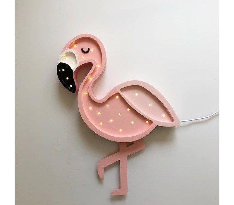 Kleine Lichter Lampe Flamingo