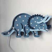 Little Lights lamp Triceratops/Jurassic Navy